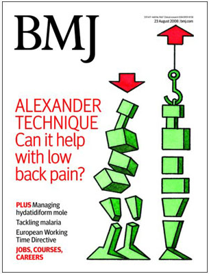 British Medical Journal cover on back pain and the Alexander Technique